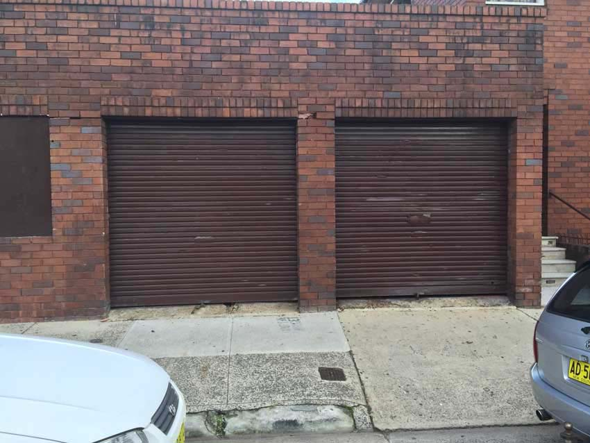 Graffiti removal garage doors